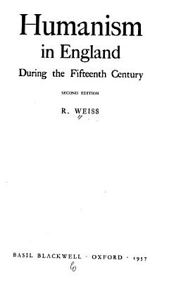 Humanism in England During the Fifteenth Century PDF