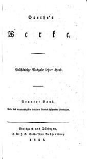 Goethe's Werke: Bände 9-10