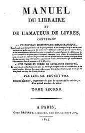 Manuel du Libraire et de L'Amateur des Livres: G - Phi, Volume2