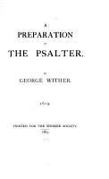 A Preparation to the Psalter PDF