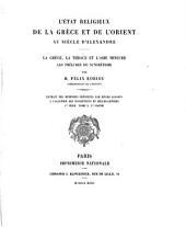 L'état religieux de la Grèce et de l'Orient au siècle d'Alexandre