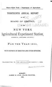 Annual Report of the Department of Agriculture ...: Volume 3