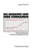 Die Moderne und ihre Vornamen PDF