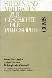 Gedancken vom Philosophischen Naturell