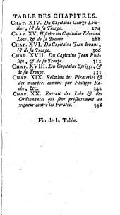 Histoire des pirates anglois: depuis leur établissement dans l'Isle de la Providence jusqu'à présent ...