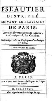 Pseautier distribué suivant le Bréviaire de Paris