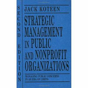 Strategic Management in Public and Nonprofit Organizations PDF