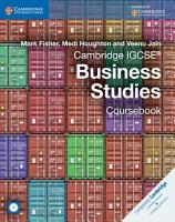 Cambridge IGCSE   Business Studies Coursebook with CD ROM PDF