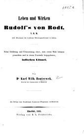 Leben und Wirken Rudolf's von Rodt ... weil. Missionars der Londoner Missionsgesellschaft in Indien. Nebst Erklärung und Uebersetzung einer, zum ersten Male bekannt gemachten und in einem Facsimile beigegebenen, indischen Litanei, etc