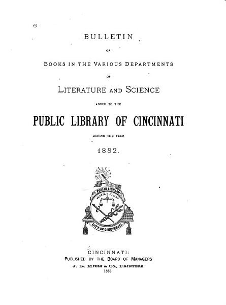 Download Annual List of Books Added to the Public Library of Cincinnati Book