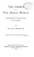The Church and the Moral World PDF