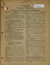 Bulletin of the Society to Promote the Science of Management: Volume 2, Issue 1