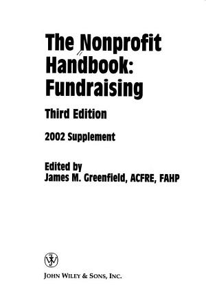 The Nonprofit Handbook  2002 Supplement PDF