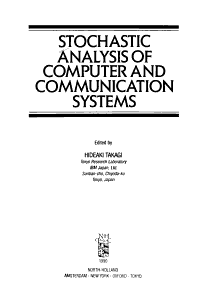 Stochastic Analysis of Computer and Communication Systems PDF