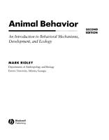 Animal Behavior PDF