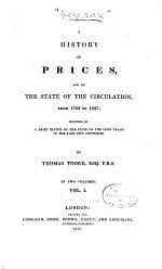 A History of Prices, and of the State of the Circulation, from 1793 to 1837