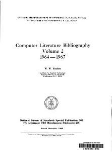 Computer Literature Bibliography  1964 1967 PDF
