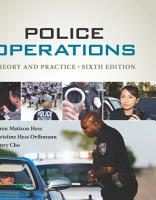 Police Operations  Theory and Practice PDF