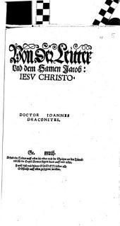 Von der Leitter Und dem Samen Jacob Jesu Christo