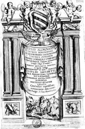 Vlyssis Aldrovandi... De Quadrupedibus solidipedibus volumen integrum Ioannes Cornelius Vterverius... recensuit. Marcus Antonius Bernia in lucem restituit... (Carmina Urbani VIII)