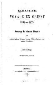 Lamartine, voyage en orient, 1832-1833