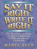 Say It Right  Write It Right PDF