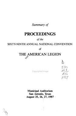 Summary of Proceedings of the     National Convention of the American Legion PDF