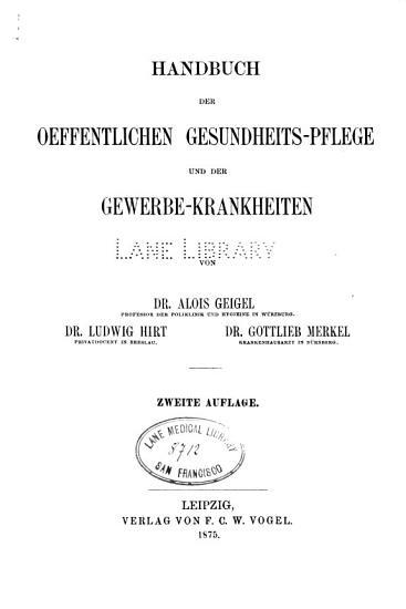 Handbuch der speciellen Pathologie und Therapie  v 1   2nd ed   1875 PDF