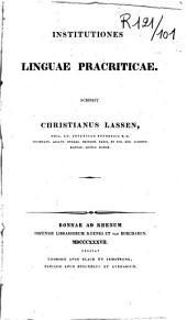 Institutiones linguae pracriticae