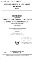 Hearings  Reports and Prints of the House Committee on Un American Activities PDF