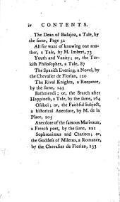 Tales, Romances, Apologues, Anecedotes and Novels: Humorous, Satiric, Entertaining, Historical, Tragical and Moral; from the French...