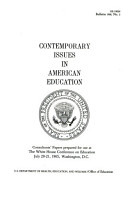 Contemporary Issues in American Education PDF