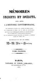 Mémoires secrets et inédits, pour servir à l'histoire contemporaine...: Mémoires sur l'expédition d'Égypt, par Jean Gabriel de Niello Sargy