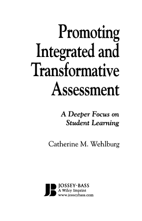 Promoting Integrated and Transformative Assessment PDF