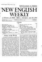 The New English Weekly