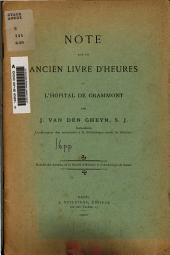 Note sur un ancien livre d'heures de l'hôpital de Grammont