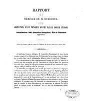 Rapport sur un mémoire de M.A. Bravais relatif aux lignes d'ancien niveau de la mer dans le Finmark