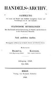 Preussisches Handelsarchiv: Wochenschrift für Handel, Gewerbe und Verkehrs-Anstalten