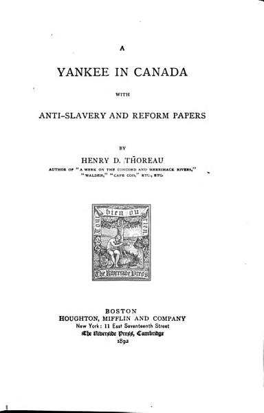 Download A Yankee in Canada Book
