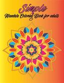 Simple Mandala Coloring Book For Adult
