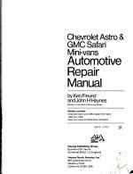 Chevrolet Astro and Gmc Safari Mini-Vans Automotive Repair Manual