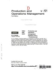Production and Operations Management 00 01 PDF