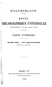 Polybiblion: revue bibliographique universelle