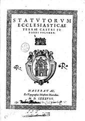 Statutorum ecclesiasticae terrae Castri Fidardi volumen