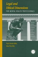 Legal and Ethical Dimensions for Mental Health Professionals PDF