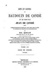 Dits et contes de Baudouin de Condé et de son fils Jean de Condé: Jean de Condé