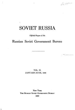 Soviet Russia PDF