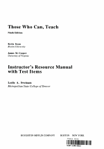 Instructor's Resource Manual with Test Items