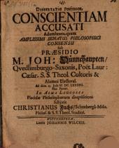 Dissertatio posterior conscientiam accusati adumbrans