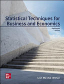 Loose Leaf for Statistical Techniques in Business and Economics